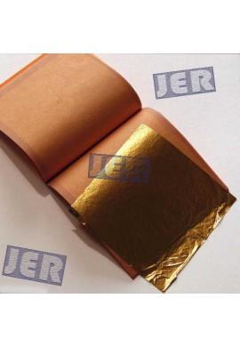 Pan de oro falso. Librillo 25 hojas 14 x 14 cms