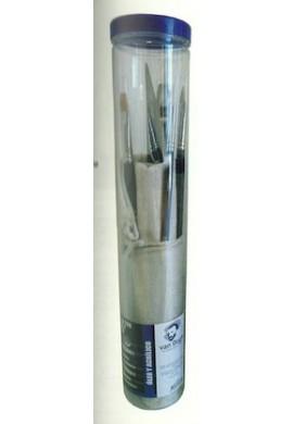 Tubo con 6 pinceles óleo/acrílico