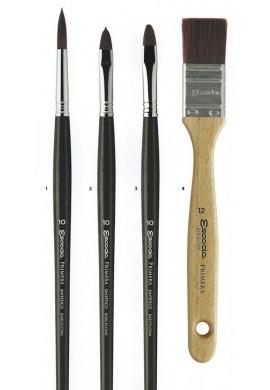 Pincel óleo/acríl fibra teijín plano largo Serie 4150