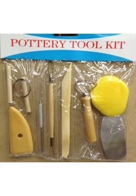 Set herramientas de modelado básico 8 piezas