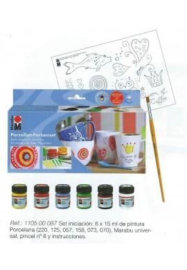 Marabú set pintura porcelana