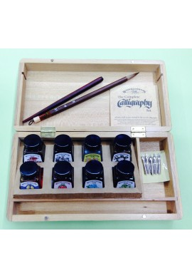 Caja madera caligrafía