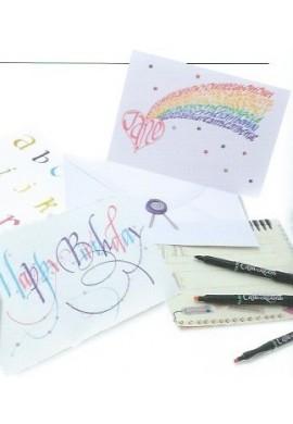 Set 12 rotuladores caligrafia colores