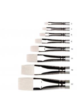 Pincel Serie Artisan sintético plano corto m. largo