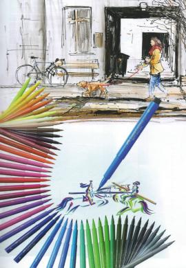 Rotulador Pitt Faber Castell Punta pincel/fina/media/superfina/r