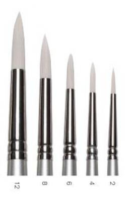 Pincel Serie Artisan sintético redondo m. largo