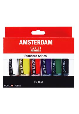 Set acrílico Amsterdam 20 ml 6 tubos