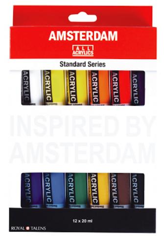 Set acrílico Amsterdam 20 ml 12 tubos