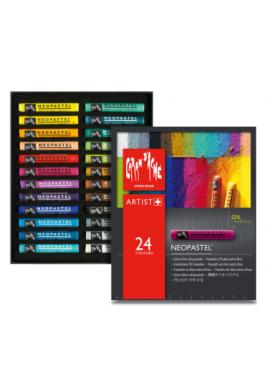 Caja metal pastel al óleo 24 colores NEOPASTEL
