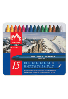 Cera acuarelable Neocolor II 15 colores