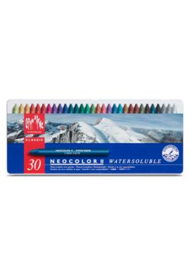 Cera acuarelable Neocolor II 30 colores