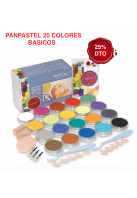 Panpastel set de 20 colores elemental