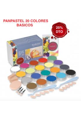 Panpastel set de 20 colores elemental