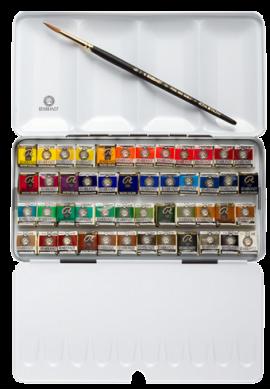 Caja metálica con 48 medio godet