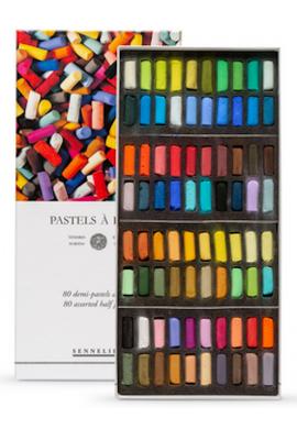 Caja pastel media barra Sennelier 80