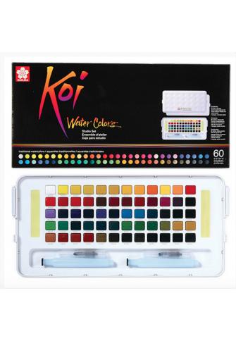 Koi caja 60 acuarelas