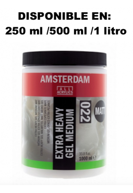 Gel medium extradenso acrílico brillo relieves 250 ml