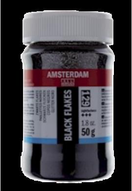 Copos purpurina negro Amsterdam