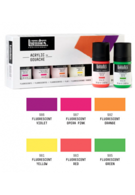 Gouache acrílico Liquitex fluorescentes set