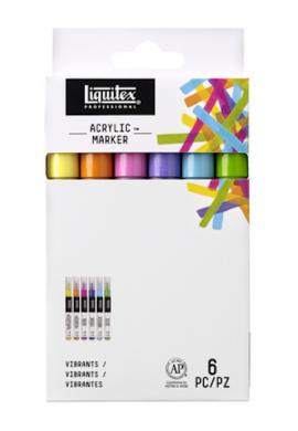 Rotuladores Liquitex finos pack 6