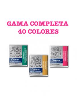 Acuarela Cotman Winsor gama completa pastilla