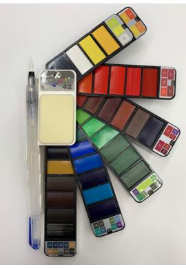 Caja acuarelas desplegable 42 colores