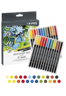 Caja 24 rotuladores Lyra Aqua brush