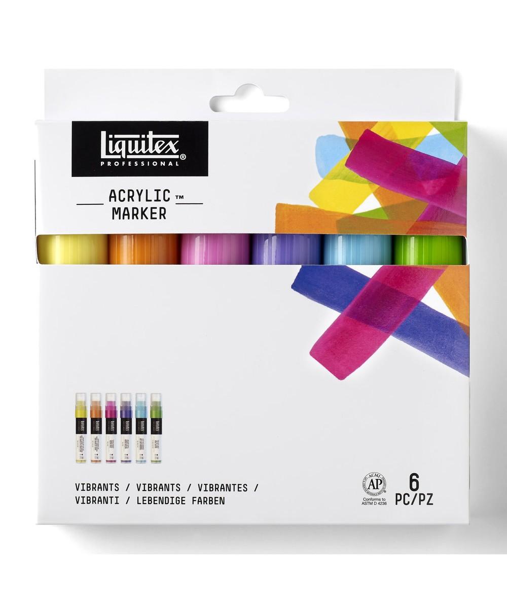 Pack rotuladores gruesos Liquitex vibrantes