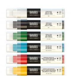 Rotulador grueso Liquitex pack 6 primarios