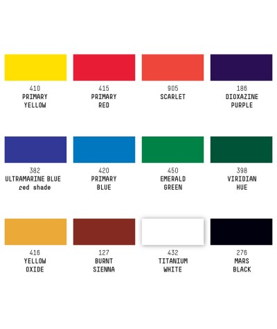 Pack colores básicos témpera acrílico Liquitex