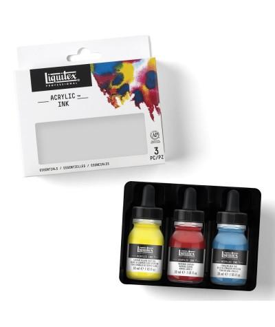 Pack tinta acrílica Liquitex primarios