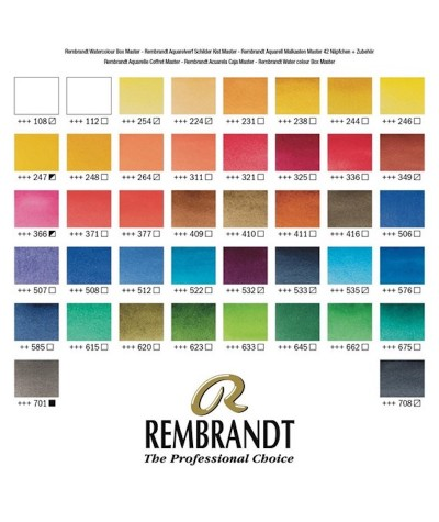 Colores caja Master acuarela Rembrandt