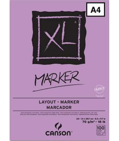 Bloc para rotulador XL Marker de Canson A4