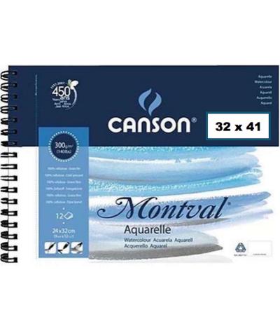 Papel acuarela Montval de Canson 41 x 32 cms