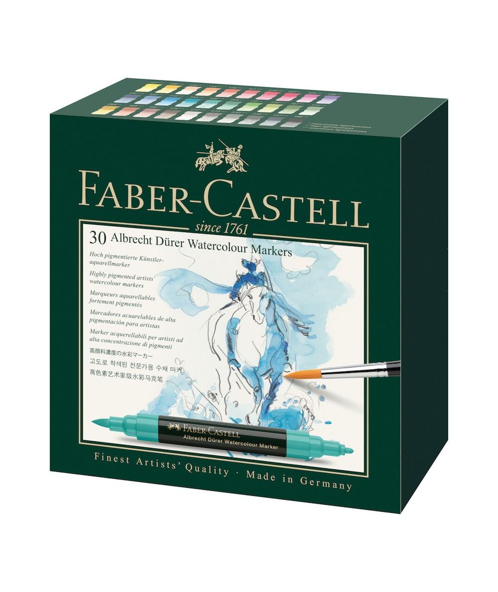 Caja 30 rotulador de acuarela Faber