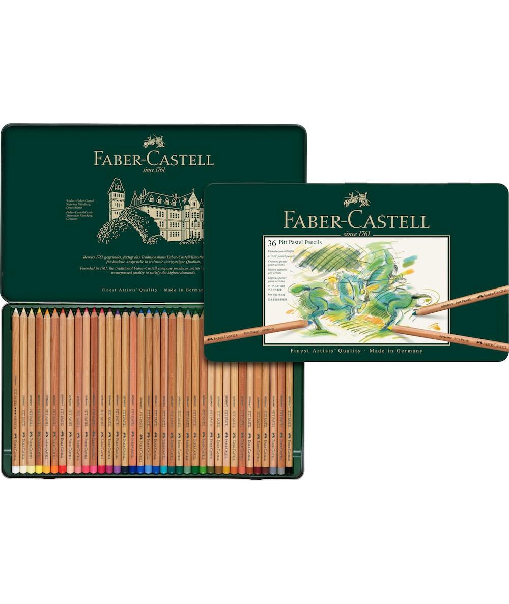 Faber caja 36 lápices pastel