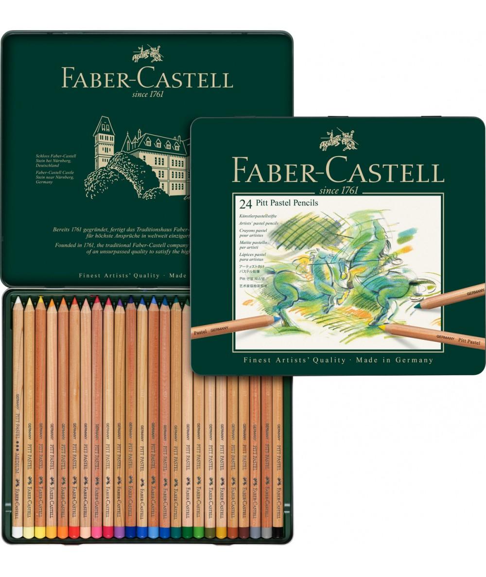Caja 24 lápices pastel Faber Castell