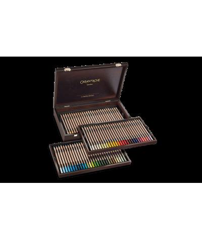 Estuche madera 84 lápices pastel Caran d áche