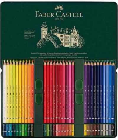 caja lápices Faber acuarelables 60 colores