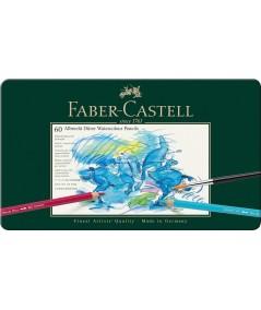 Estuche metal 60 lápices colores Faber acuarela