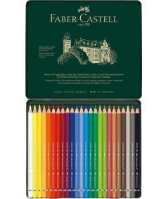 Caja 24 lápices Faber acuarelables