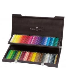 Caja madera 120 lápices acuarelables Faber