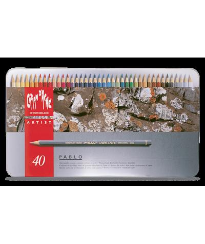 Caja lápices Pablo de Carand´ache 40 colores