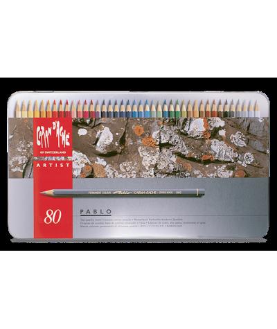 Caja lápices Pablo Caran d´ache 80 colores