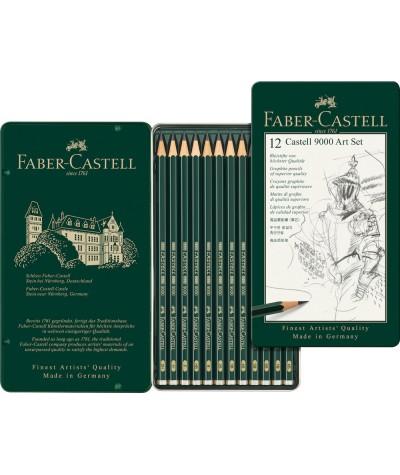 Lápices grafito Faber Castell caja distintas graduaciones