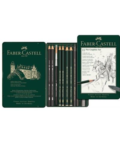 Caja grafitos Faber Castell 11 piezas