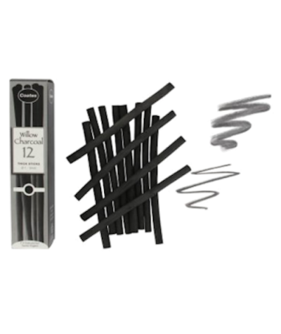 Caja carboncillo grueso