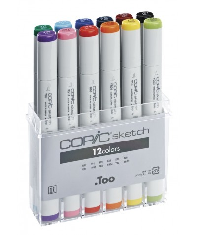 Copic Sketch 12 rotuladores