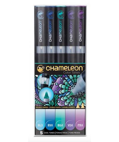 Rotuladores Chamaleon set tonos fríos