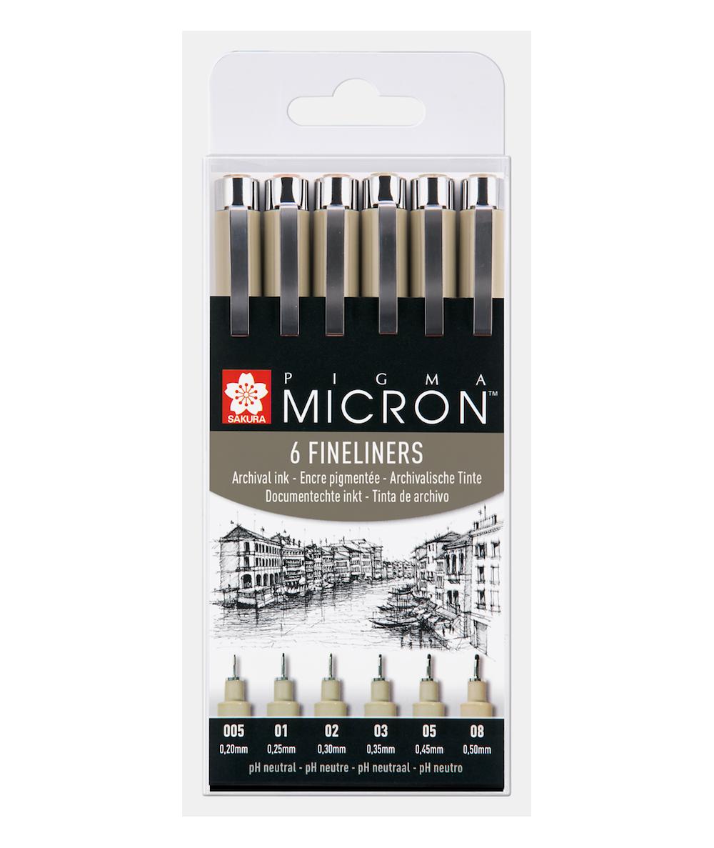 Pigma Micron set calibrados